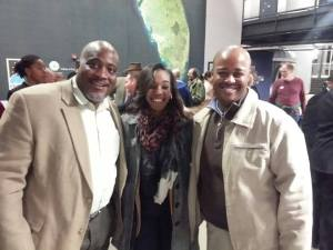 """Desmond Meade, Jabari Paul, and I at the """"Inequality for All"""" screening and panel discussion."""